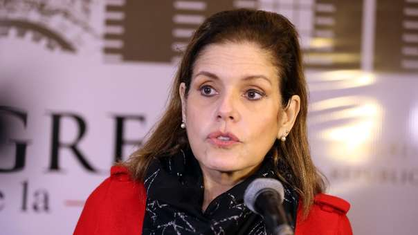 Mercedes Aráoz acudió a emitir su voto.