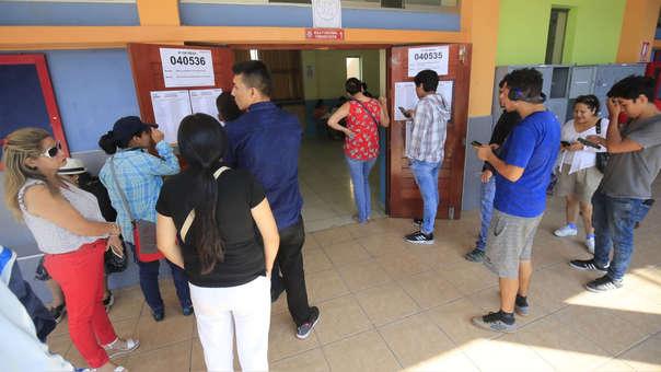 Elecciones congresales se registraron si mayores incidentes.