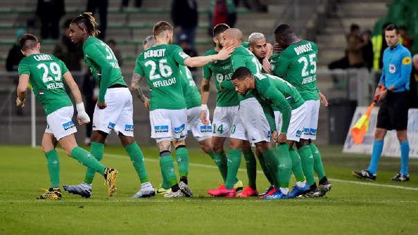 Saint-Étienne venció a Mónaco 1-0 por la Copa de Francia.