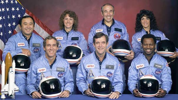 Tripulación víctima del accidente del transbordador espacial Cha