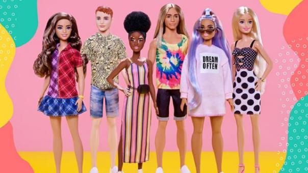 """Línea Barbie Fashionistas tiene más de 170 """"muñecas diversas""""."""