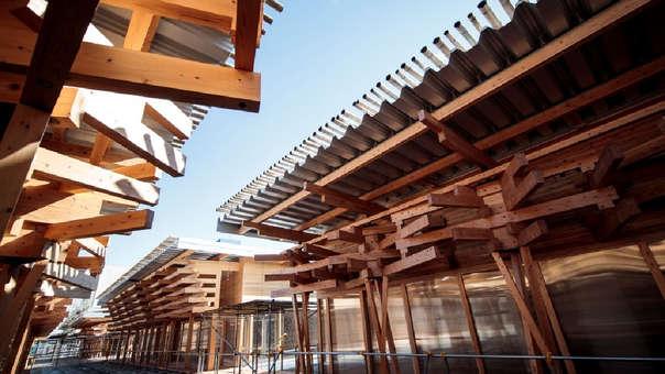 Tokio 2020 recibirá a los atletas en un complejo sostenible hecho a base de vigas de madera.
