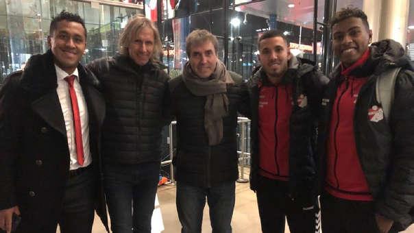 Ricardo Gareca visitó en Holanda a Renato Tapia, Sergio Peña y Miguel Araujo.