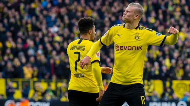 Erling Haaland marcó un doblete en el 5-0 del Borussia Dortmund sobre Unión Berlín.