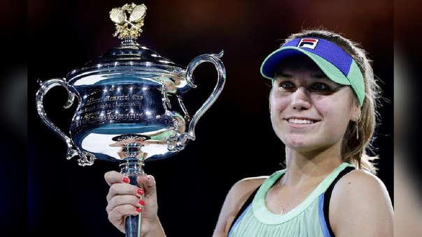 Sofia Kenin derrotó a Garbiñe Muguruza en la final del Abierto de Australia.