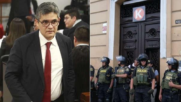 El fiscal Pérez dirigió el allanamiento.
