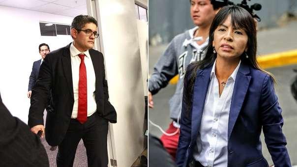 El fiscal José Domingo Pérez estuvo presente esta mañana en el allanamiento a local de Fuerza Popular.