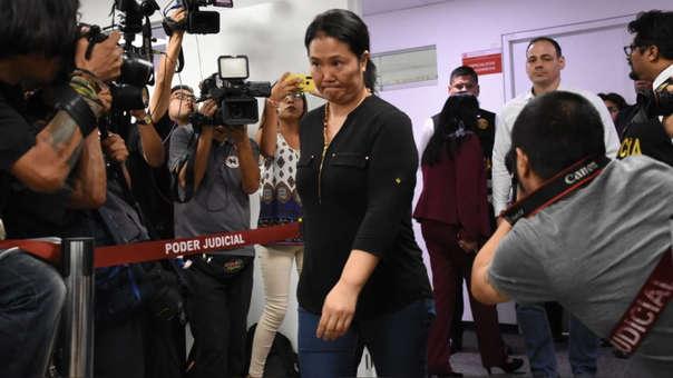 Juez dictó 15 meses de prisión preventiva contra Keiko Fujimori.