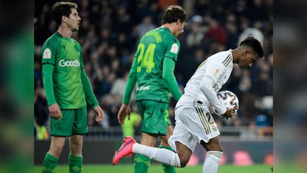 Rodrygo anotó el segundo tanto del Real Madrid ante Real Sociedad, por la Copa del Rey.
