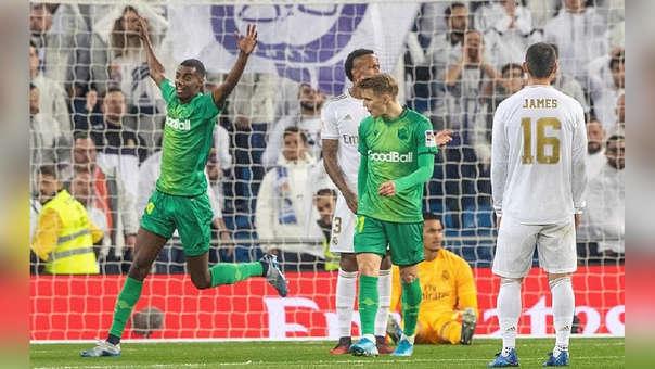 Alexander Isak marcó el segundo gol de Real Sociedad ante Real Madrid.