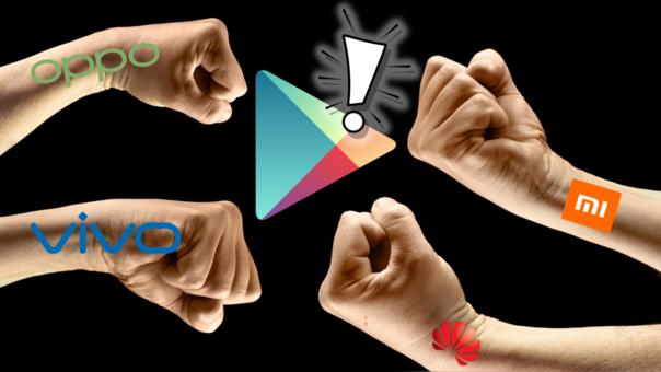 Las cuatro grandes de China se juntan para descentralizar los mercados de apps