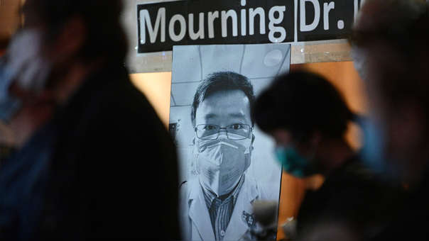 Li Wenliang, médico chino que alertó sobre el nuevo coronavirus.