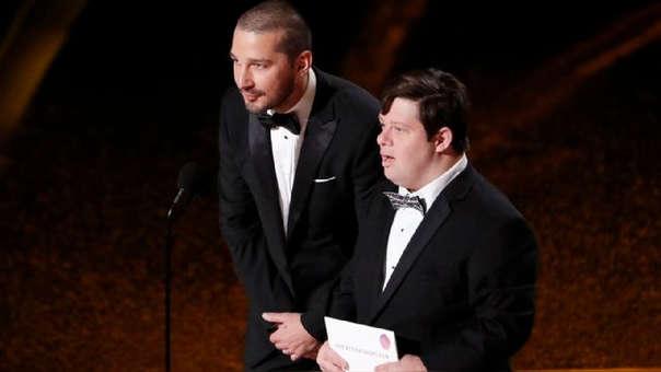 Oscar 2020: Shia LaBeouf es criticado en redes por su actitud frente a actor con Síndrome de Down durante la gala