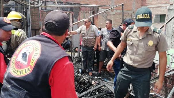 Un incendio causó la muerte de dos menores.