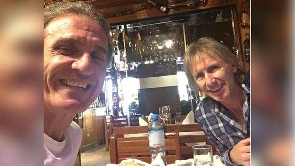 Ricardo Gareca y Oscar Ruggeri jugaron juntos en Boca, River y Vélez.