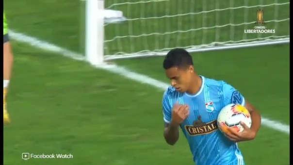 Christopher Olivares marcó el gol de la victoria de Cristal ante Barcelona