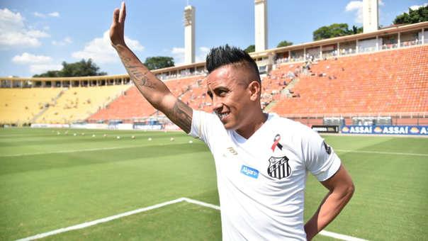 Christian Cueva llegó a Santos de Brasil tras su paso por Krasnodar.