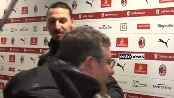 En plena zona mixta y ante la vista de todos: el golpe de Zlatan a su propio agente