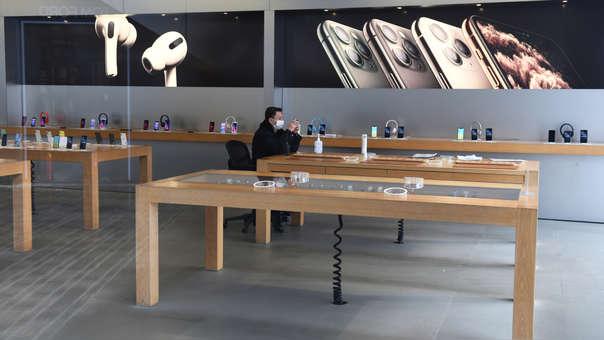 Las tiendas de Apple se mantuvieron cerradas desde finales de enero en China