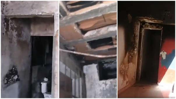 Viviendas afectadas por deflagración en Villa El Salvador