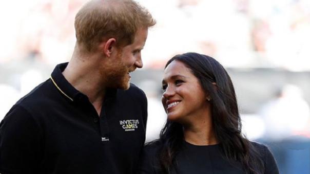 Meghan Markle y su esposo,  el príncipe Harry.