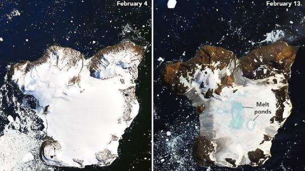 Izquierda: 4 de febrero. Derecha: 13 de febrero.