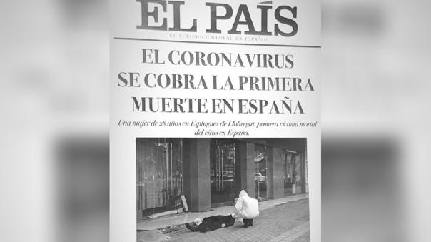 Falsa portada de El País