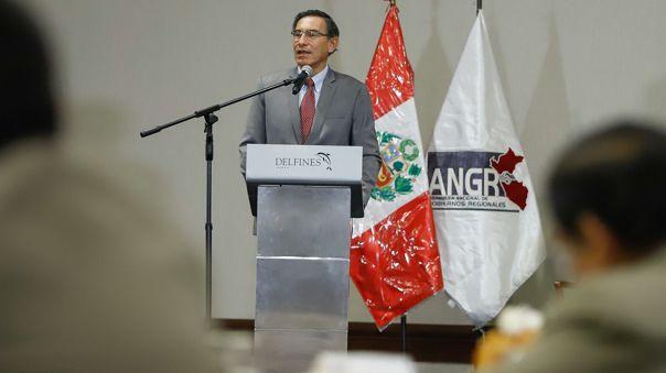 El presidente participó en la juramentación del Consejo Directivo de la Asamblea Nacional de Gobiernos Regionales.