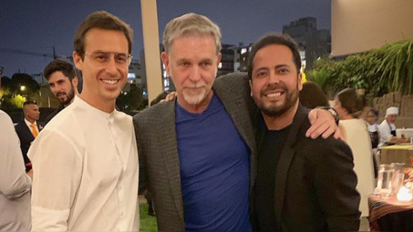 Bruno Ascenzo junto al CEO de Netflix