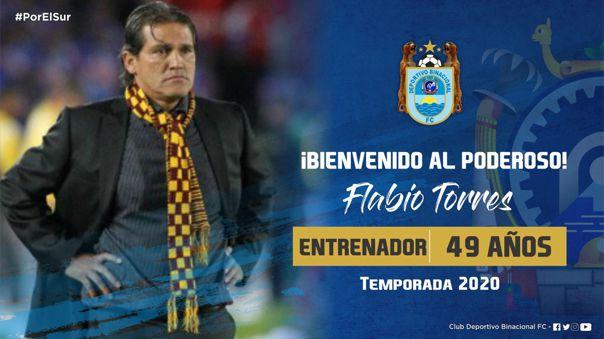 El último club que dirigió Flabio Torres fue Águilas Doradas