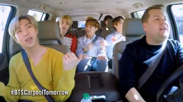 BTS en el Carpool Karaoke.