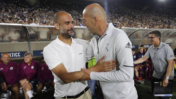 Zinedine Zidane y Pep Guardiola se enfrentarán en octavos de final de la Champions League