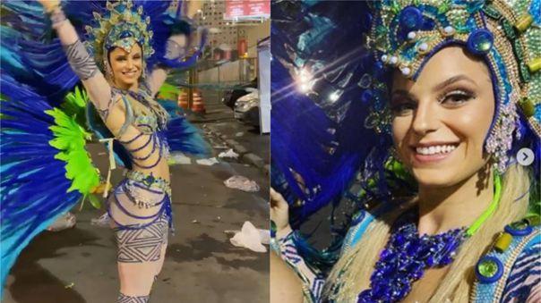 La ex pareja de Paolo Guerrero se lució en traje azul durante Carnaval.