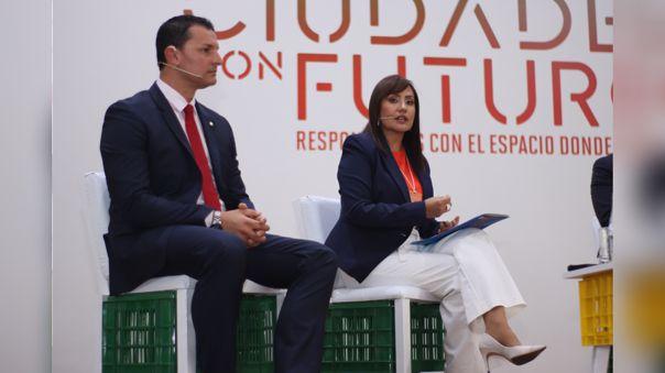 María Jara, presidenta de la ATU, participó del Foro Ciudades con Futuro.