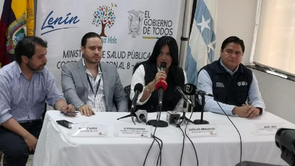 Conferencia de prensa en Ecuador