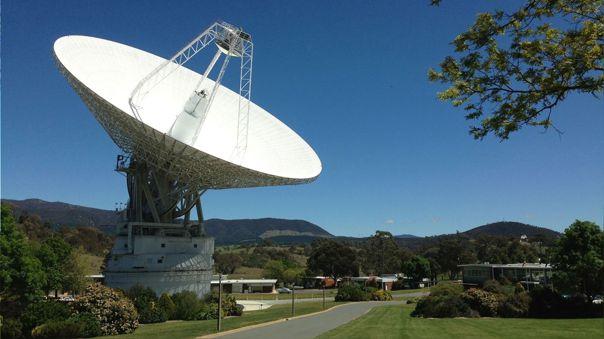 Antena de espacio profundo en Canberra