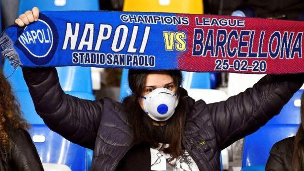 Barcelona vs. Napoli se jugará a puerta cerrada por la Champions League