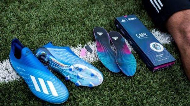 Adidas GMR, sistema de calzado inteligente que traslada estadísitcas del mundo real al videojuego FIFA Mobile.