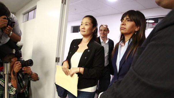 Keiko Fujimori cumplía una orden de prisión preventiva.