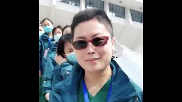Médicos en Wuhan