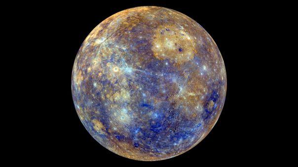 Esta vista colorida de Mercurio fue creada en base a los datos recabados por la misión Messenger.