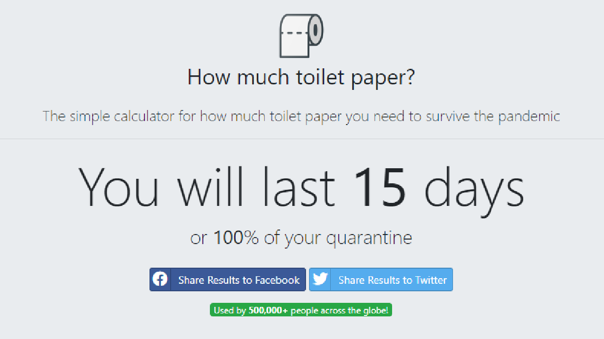 How much toilet paper
