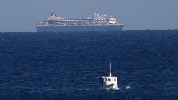 Vista del crucero británico MS Braemar cerca al Mariel, Cuba.