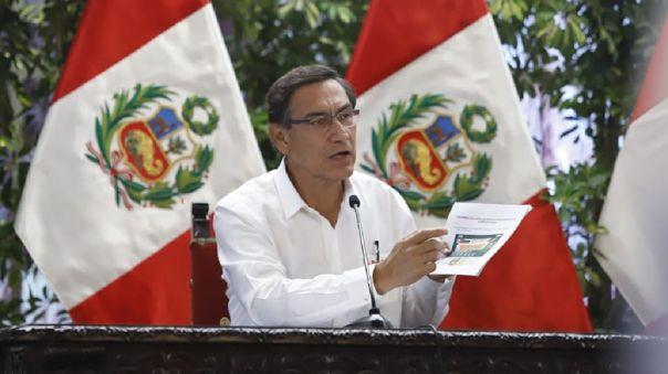 Martín Vizcarra se pronunció en el segundo de los 15 días de estado de emergencia decretados por su Gobierno por el estado de emergencia.