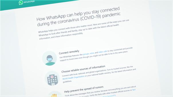 WhatsAopp incia una serie de recomendaciones para los usuarios por la expansión del coronavirus