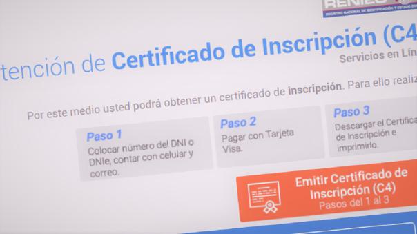RENIEC ha dispuesto un sistema rápido de verificación de identidad ante pérdida de documentos