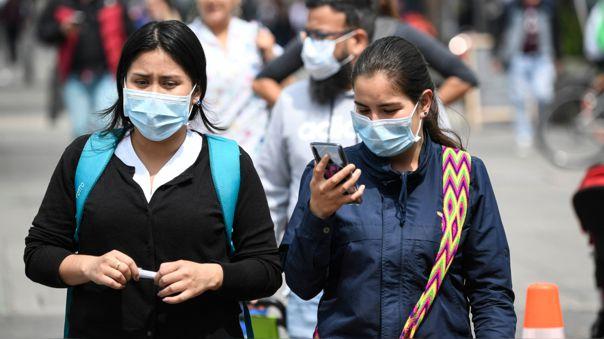 Situación en las calles de Bogotá ante el brote de coronavirus en Colombia.
