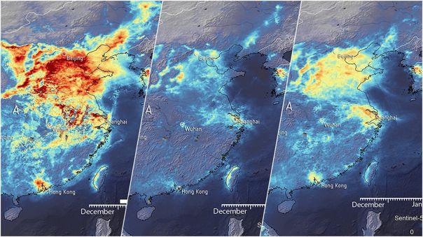 Así ha evolucionado el nivel de emisiones contaminantes en China.