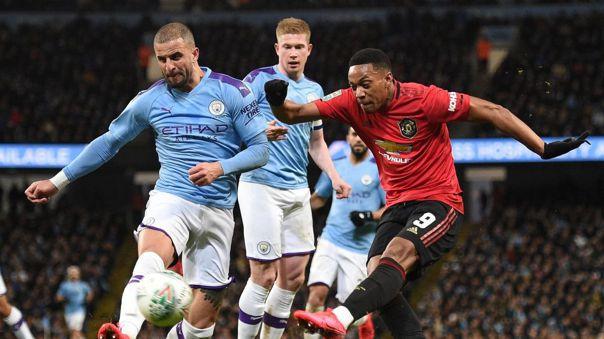 El clásico de Manchester durante la temporada 2019-20 de la Premier League