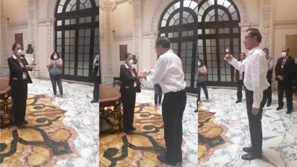 Así fue el momento en el que personal de Palacio de Gobierno le canta por su cumpleaños al presidente Vizcarra,